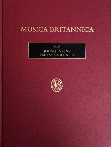 The cover of Musica Britannica 104, John Jenkins Fantasy suites volume 3