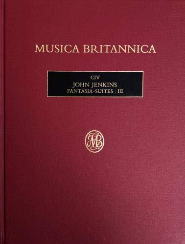 The cover of Musica Britannica 104, John Jenkins Fantasy suites volume 3