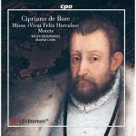 Weser-Renaissance recording of de Rore's Mass - cover of the booklet