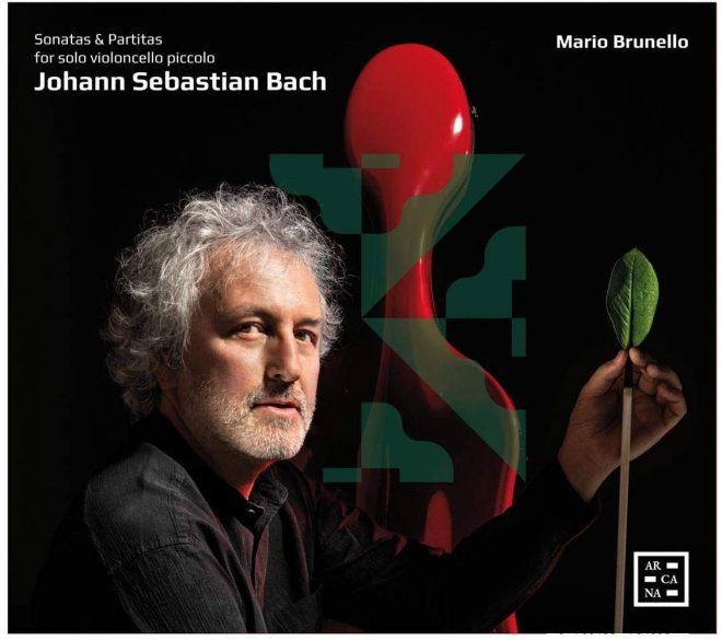 Cover of Brunello CD of Bach violin music on cello