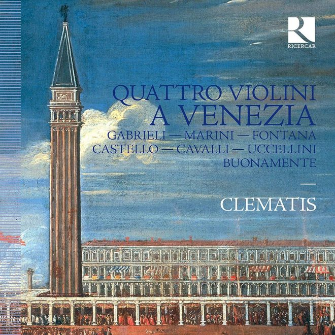 CD cover of Quattro violini a Venezia Clematis