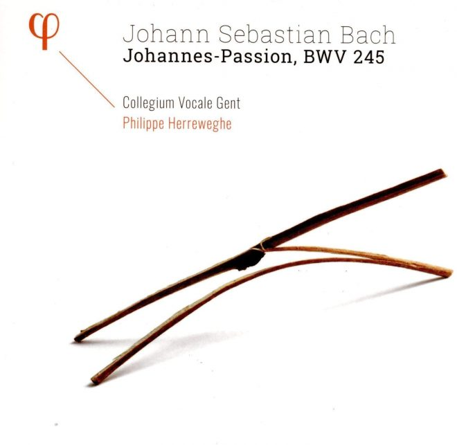 Cover of CD of Herreweghe Bach Johannes Passion