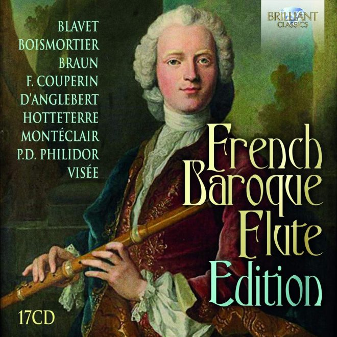 Cover of the box of the French Baroque Flute collection of CD recordings