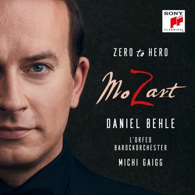 CD cover of David Behle Mozart Hero to zero