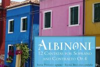 Cover of CD Albinoni op 4 cantatas for soprano and alto