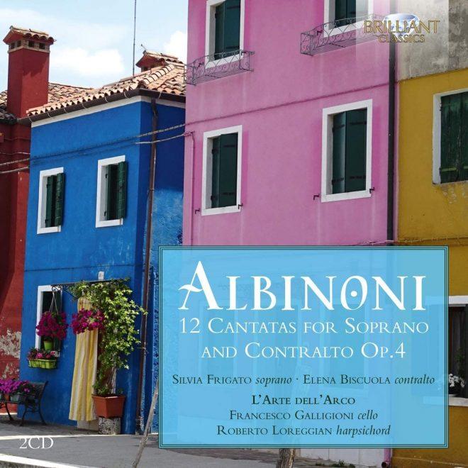 Cover of CD Albinoni op 4 cantatas for soprano and alto