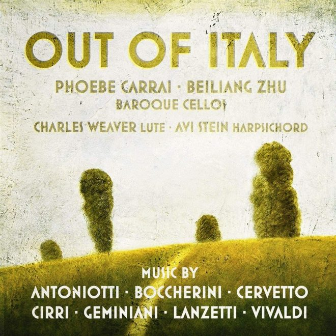 CD cover Out of Italy Phoebe Carrai