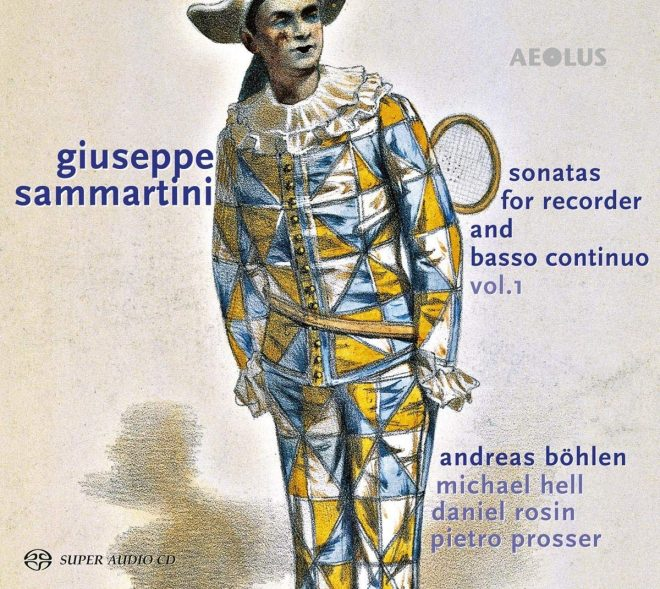 Sammartini recorder sonatas Andreas Böhlen CD cover
