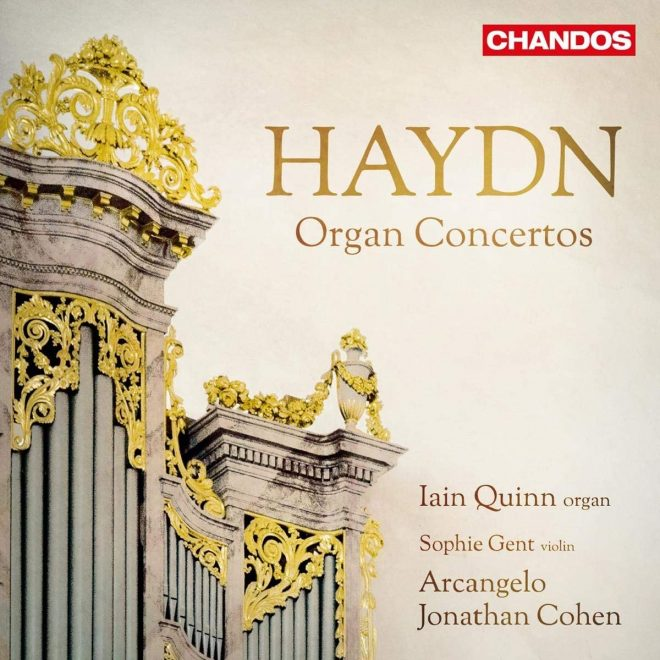 Haydn Organ Concertos Quinn Gent Arcangelo Cohen Chandos CD cover