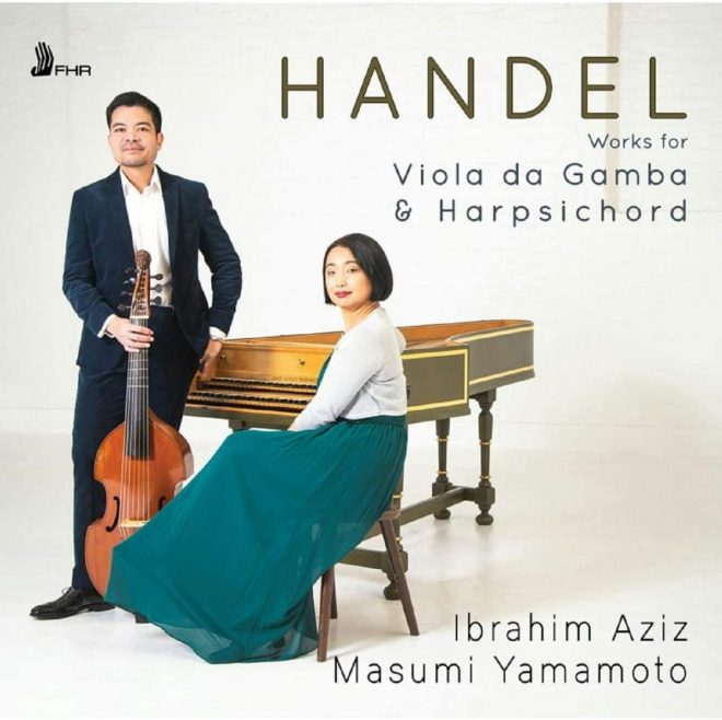 CD cover of Handel gamba sonatas recording by Aziz and Yamamoto