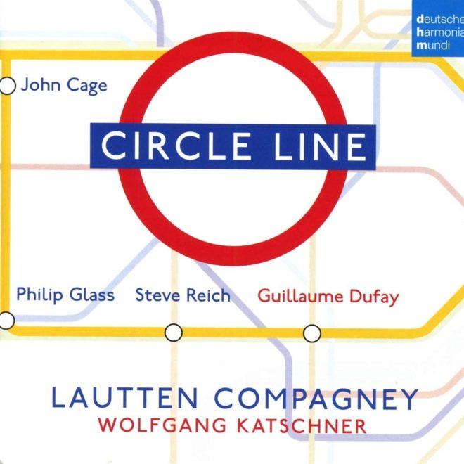 Luatten Compagney Katschner play Dufay and minimlist music CD cover