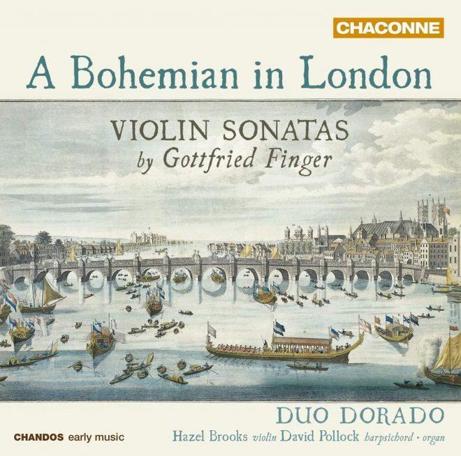 Gottfried Finger violin sonatas Hazel Brooks CD cover