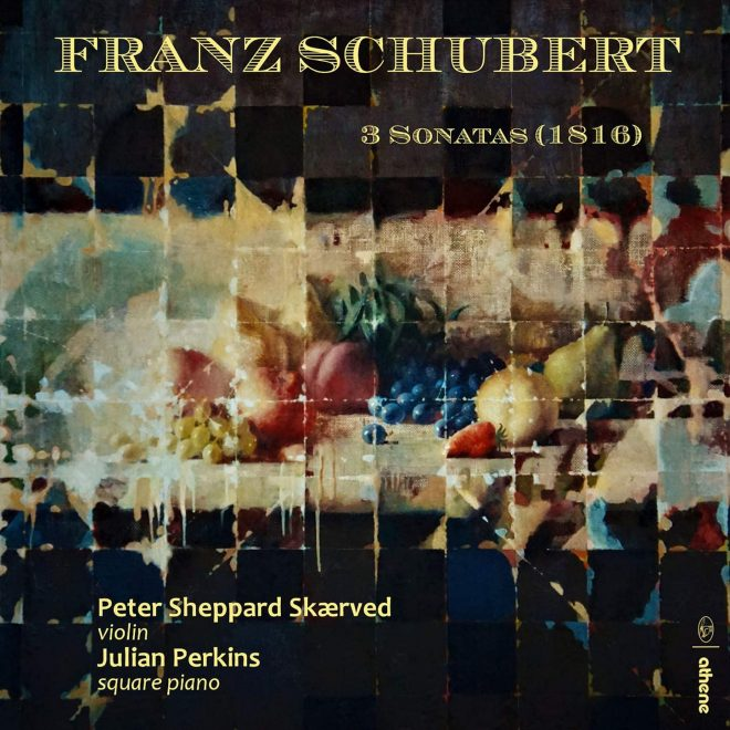 CD cover Schubert violin sonatas