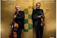 Carmignola and Bruenllo play Bach and Vivaldi an octave apart CD cover