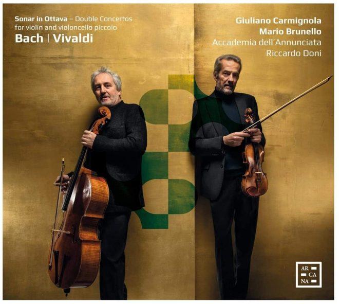 Carmignola and Bruenllo play Bach and Vivaldi an octave apart CD cover
