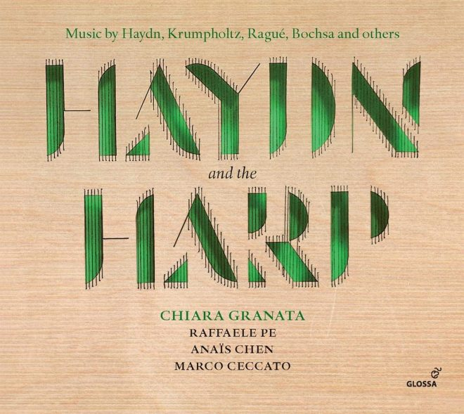 CD cover of recording of music by Haydn with harp