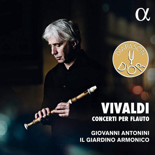 CD cover Antonini plays Vivaldi Concerti per flauto