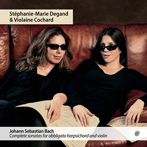 CD cover Bach Complete sonatas Degand and Cochard