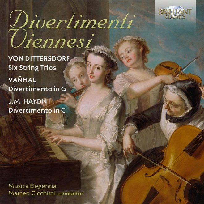 CD cover of Divertimenti Viennesi Dittersdorf Michael Haydn Vanhal