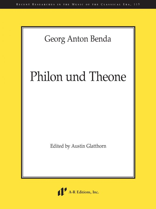 "A-R Editions Benda ""Philon und Theone"""