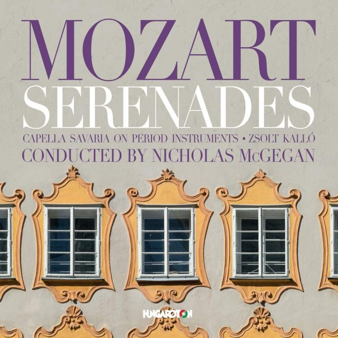 CD cover Mozart sereandes McGegan Capella Savaria