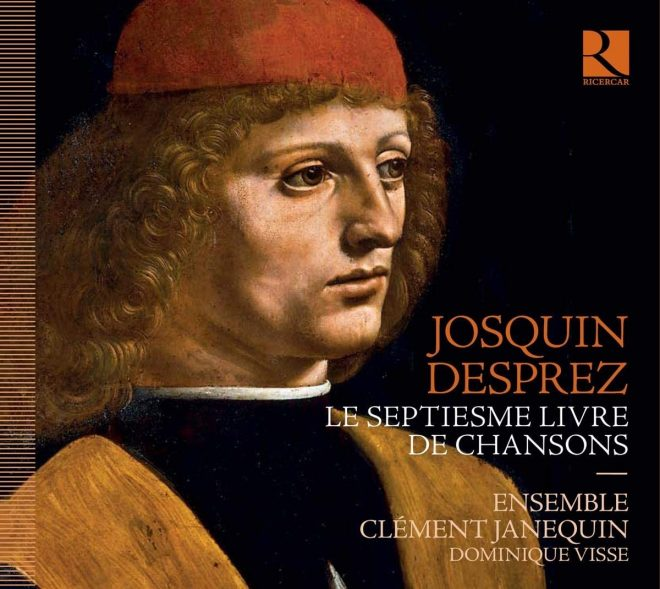 CD cover of Josquin 7th book of chansons on Ricercar Dominique Visse