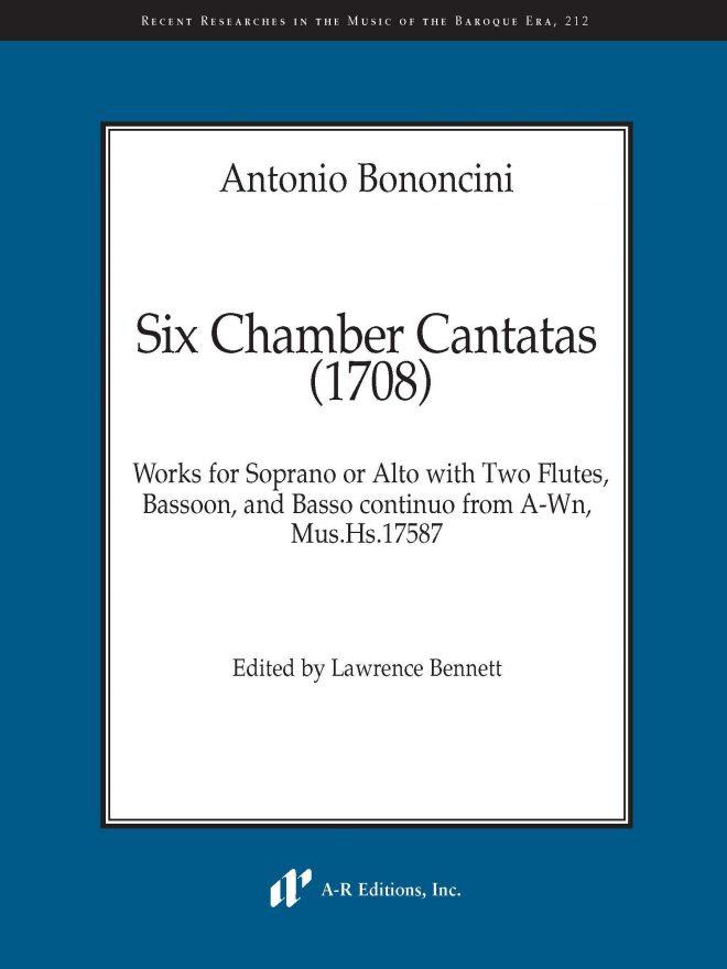 Antonio Bononcini Six Chamber Cantatas (1708) RRMBE 212