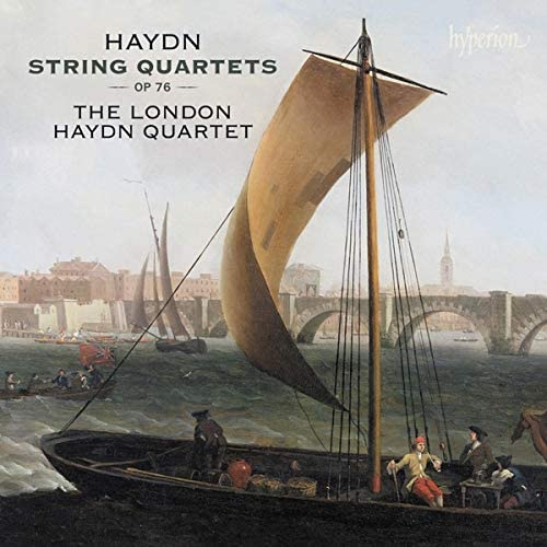 CD cover of London Haydn Quartet Hyperion recording of op 76
