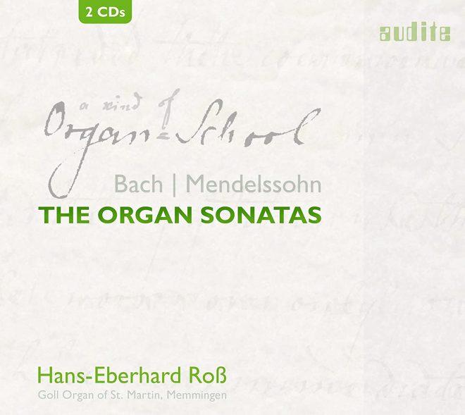 CD cover Bach Mendelssohn Organ Sonatas