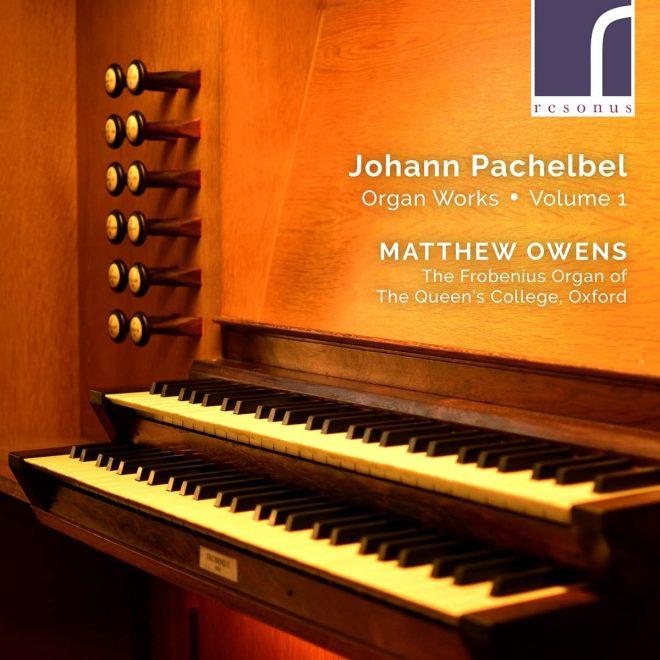 CD cover Matthew Owens Pachelbel vol 1