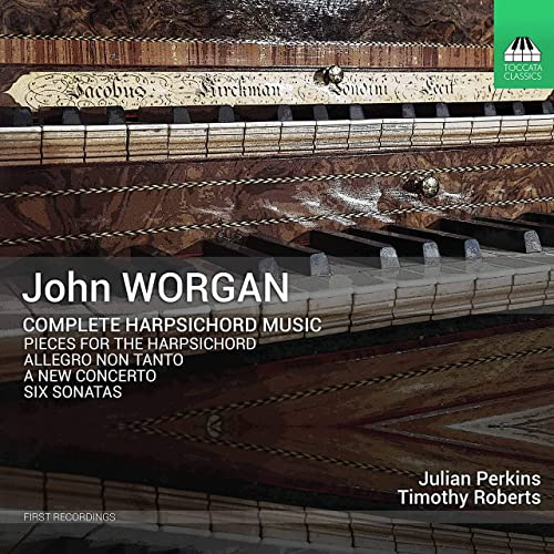 CD cover Worgan Complete harpsichord music