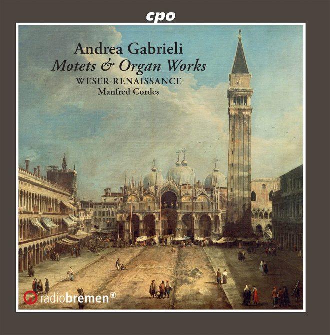 CD cover Weser Renaissance Andrea Gabrieli