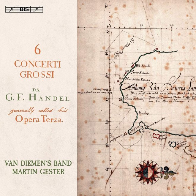 CD cover Handel op 3 Van Diemen's Band Martin Gester