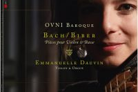 CD cover Immanuelle Dauvin Bach and Biber recital